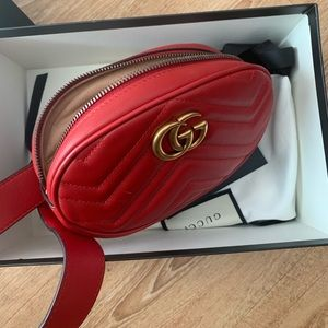GUCCI Marmont Quilted Leather Belt Bag